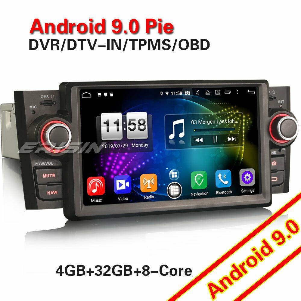 Reproductor Multimedia para Fiat Punto Linea, 7723, estéreo de 1 Din para coche, con Android 9,0, WIFI, GPS, TNT Canbus