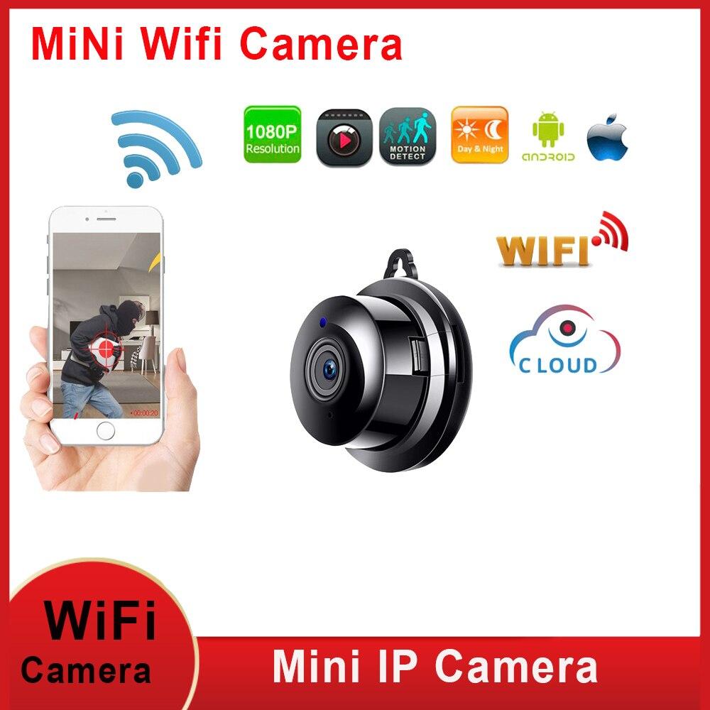 Mini wifi câmera ip 1080p hd ir visão noturna wifi micro câmera de vigilância segurança em casa wi fi monitor do bebê câmera