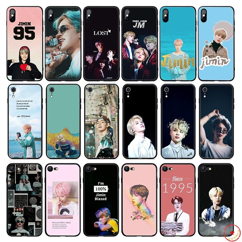 Мягкий силиконовый чехол для телефона Park Jimin K Pop для iPhone 11 Pro Xs Max X или 10 8 7 6S Plus 5 5S SE Xr 6 Plus 7Plus 8 Plus