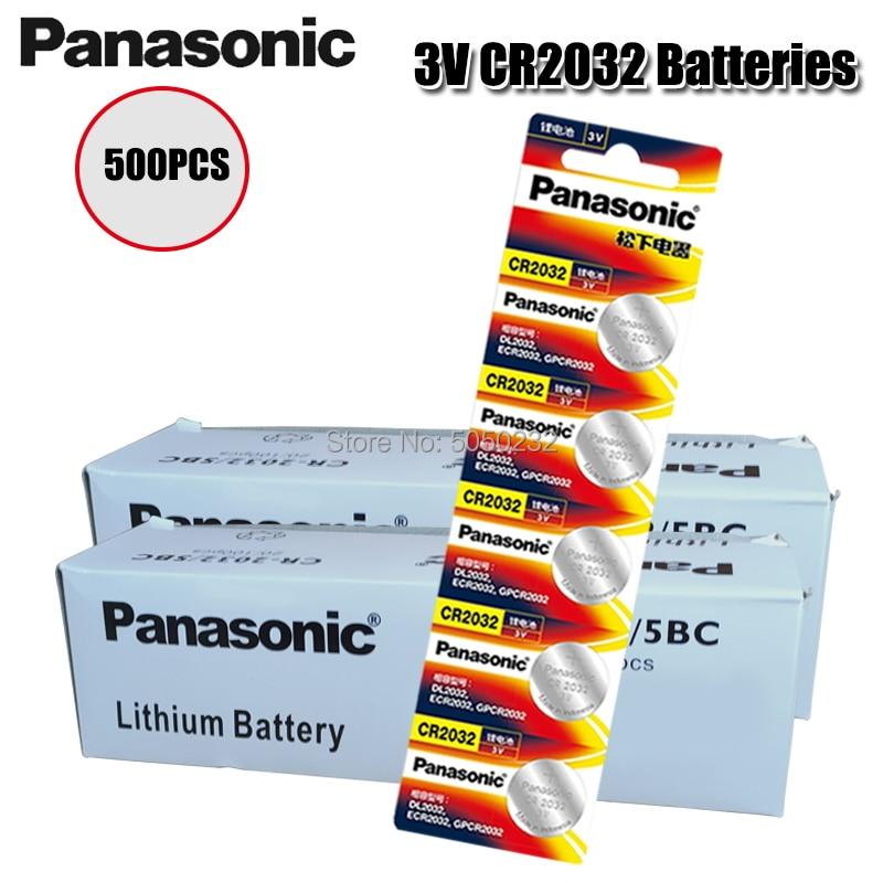 PANASONIC-Reloj de Pilas de litio, 3v, CR2032, CR 500, botón, monedas, para...