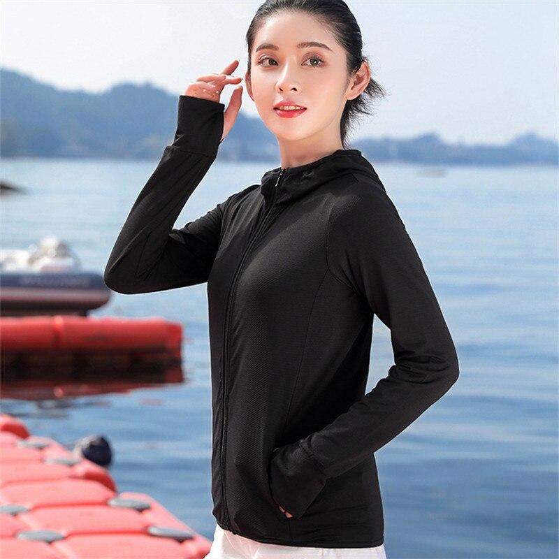 2020 nueva camisa de protección solar Anti-UV transpirable para mujeres camisa de pesca con capucha de secado rápido camisa de senderismo al aire libre Tops de protección solar