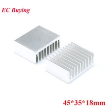 5pcs 45*35*18mm Heatsink Cooling Fin Radiator Aluminum Cooler Heat Sink for LED, Power IC Transistor, Module PBC 45X35X18mm