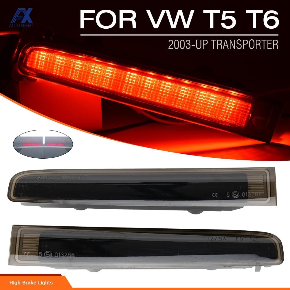 مصباح LED عالي المستوى لباب الحظيرة ، ضوء توقف الفرامل ، ضوء L R لـ VW T5 ، عدسة سوداء مدخنة