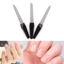 1pc Stainless Steel Women Nail Files Dual Sided Nail Art File Manicure Pedicure Tool Good Quality