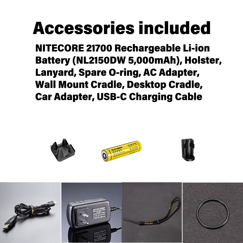 NITECORE R40 V2 1000 Lumens new wireless/type-c charging search light for Law enforcement search rescue included 5000mah battery enlarge