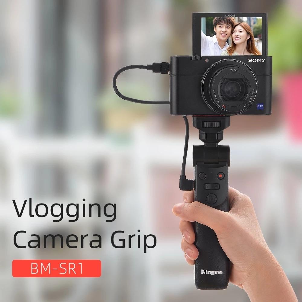 متعددة الوظائف التحكم عن بعد Selfie ترايبود Vlog اطلاق النار مقبض لسوني ZV1 a6000 a6300 a6400 a6500 RX100M7 M6 SLR قبضة الكاميرا