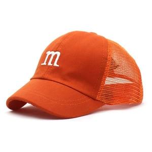 Ditpossible New Cute Embroidery Cartoon Kids Hats Summer Mesh Breathable Sun Hat Visor Snapback Sports Children Baseball Caps