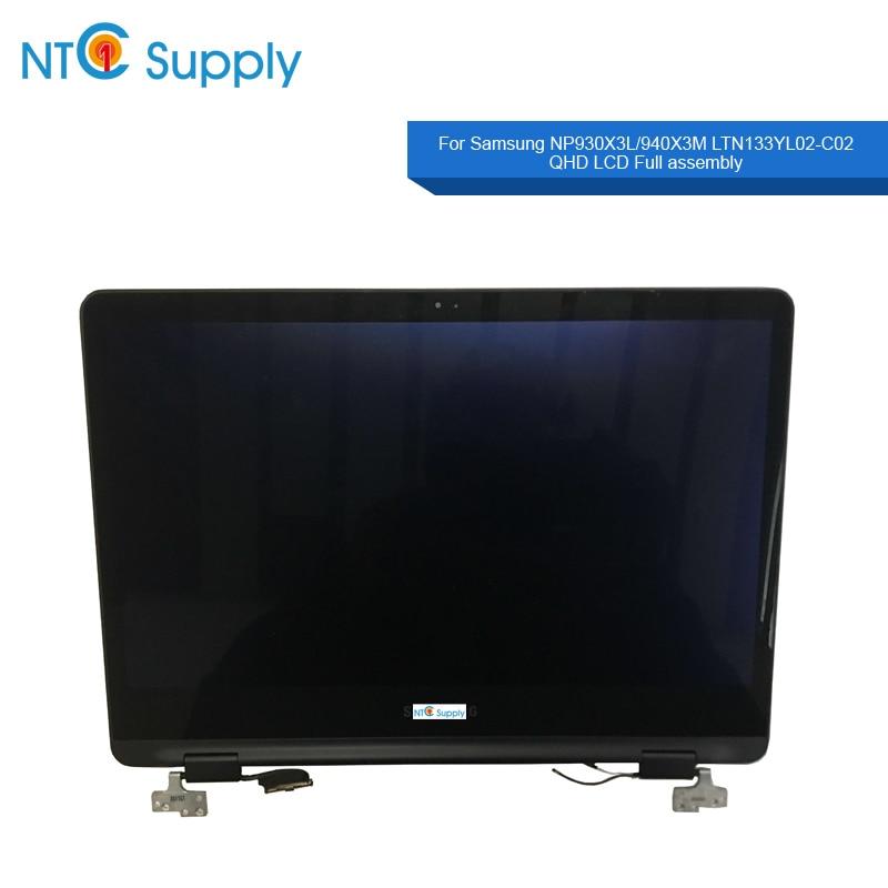NTC suministro 13,3 pulgadas espacio gris pantalla LCD montaje para Samsung NP930X3L/NP940X3M-K01US pantalla LCD Pantalla Completa