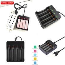 3.7V 18650 chargeur de batterie Intelligent Li-ion batterie court-circuit 4.2V lampe de poche chargeur quatre batteries de protection fente H0E1