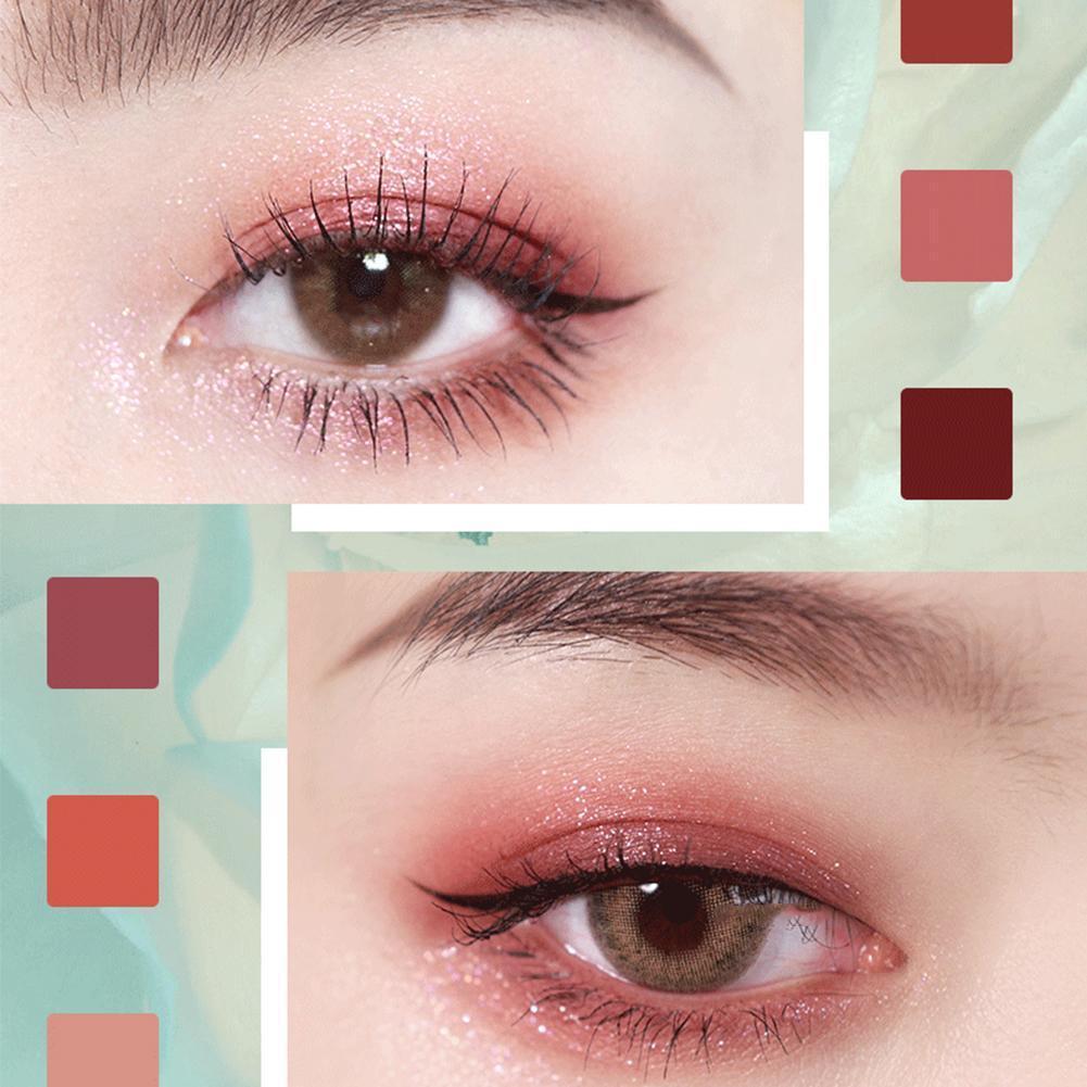 GOGO TALES Professional Glitter Air sombra de ojos mujer cosméticos mate paleta de sombra paleta de ojos nacarado pigmento completo Mak N6Q5