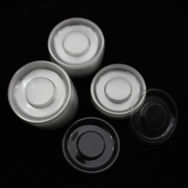 100 Uds. Al por mayor círculo redondo claro lash bandejas plástico transparente blanco titular bandeja para pestañas embalaje caja contenedor