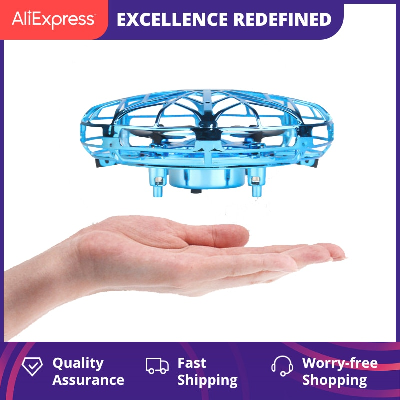 Mini Helicopter RC UFO Dron Aircraft Hand Sensing Infrared RC Quadcopter Electric Induction Toys for Children Mini Drone