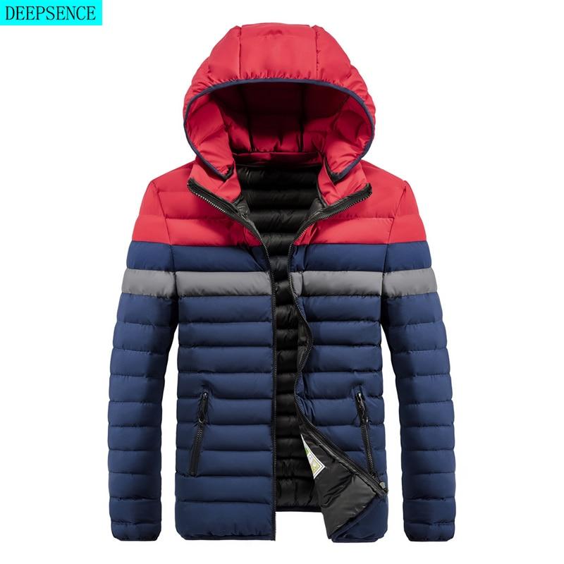 Parka Coat Men\'s Winter New Windproof and Warm Hooded Parka Coat Jacket Men\'s Casual Fashion Coat Parka Coat Men