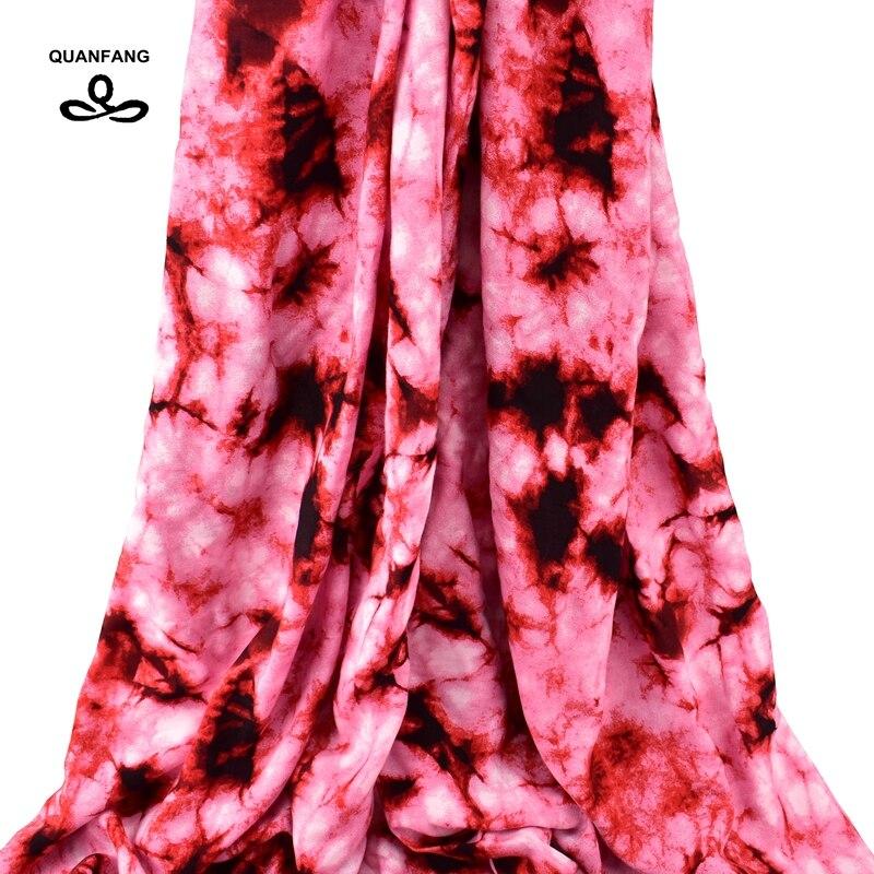Tela de popelina de algodón con estampado QUANFANG para paño para coser, tela de Patchwork para muñeca, vestido con falda, bufanda árabe, Material de tela de 50cm x 140cm
