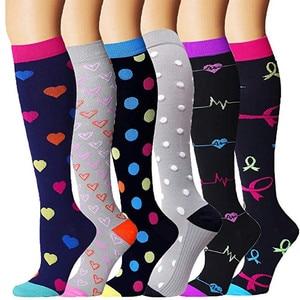 Мужские и женские мужские Компрессионные носки, подходят для спорта, лучшие Градуированные спортивные и Медицинские носки для бега, полета,...