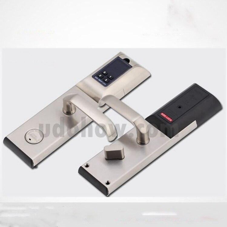 Cerradura de manija de puerta inteligente biométrica con huella dactilar con agujero oculto