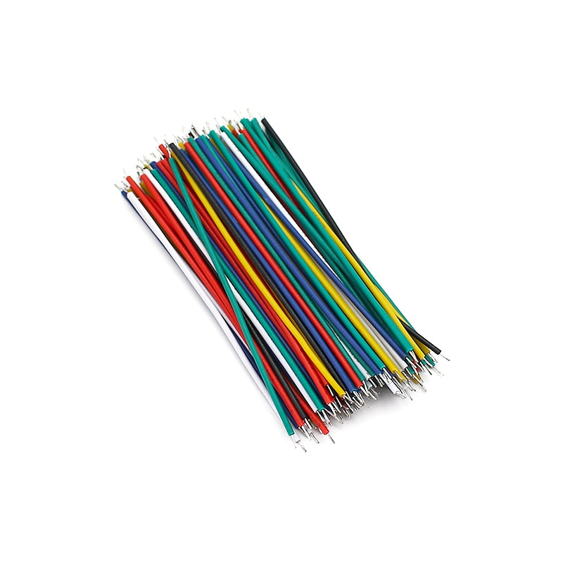 120PCS/Lot  24AWG Tin-Plated Breadboard PCB Solder Cable 24AWG 8cm Electronic Wire Jumper Wire 1007-