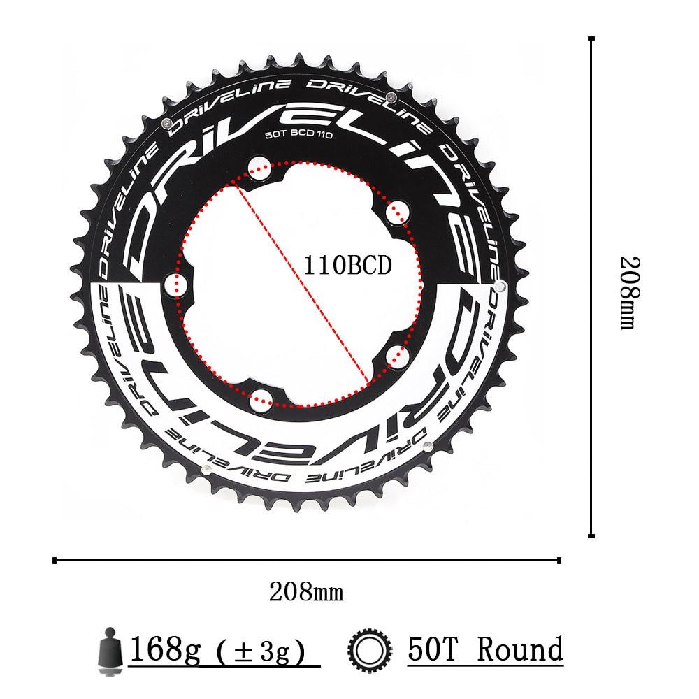 CNC 50/52/53/54/55/56/58T road bike TT chainring 110BCD 9/10/11s