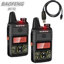 2PCS BAOFENG BF-T1 Mini UHF Walkie Talkie Kids Ham CB Radio BAOFENG T1 USB Charger bf t1 HF Transceiver Amateur Two Way Radio