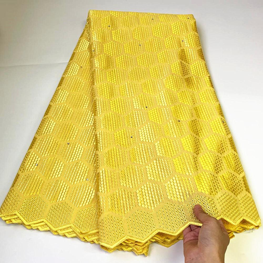 nigerian dry Lace Fabric with stones Embroidery African Cotton Lace for Wedding Party nigerian Swiss Voile Lace