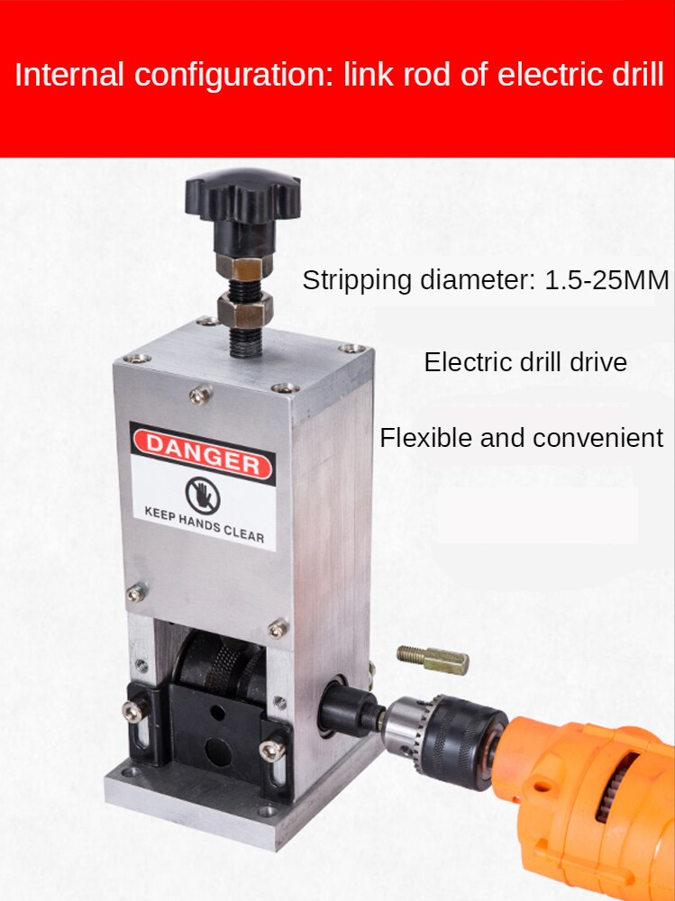 1.5-25mm Scrap Wire Stripping Machine Cable Manual Stripper Metal Copper Recycle Machine Hand Tools enlarge