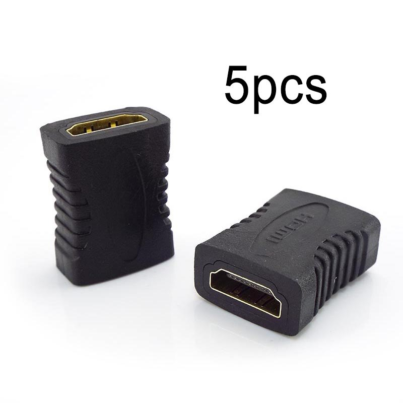 5pcs Female To Female Joiner HDMI-compatible Extender Connector Coupler Adapter Extender For Laptop