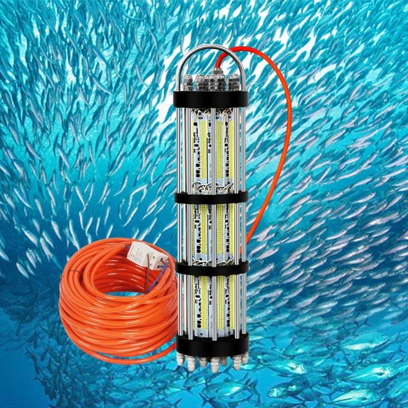 30M Cable AC220-240V 3000W Deep Sea LED Fishnet Light Underwater Night Fishing Net Float Light