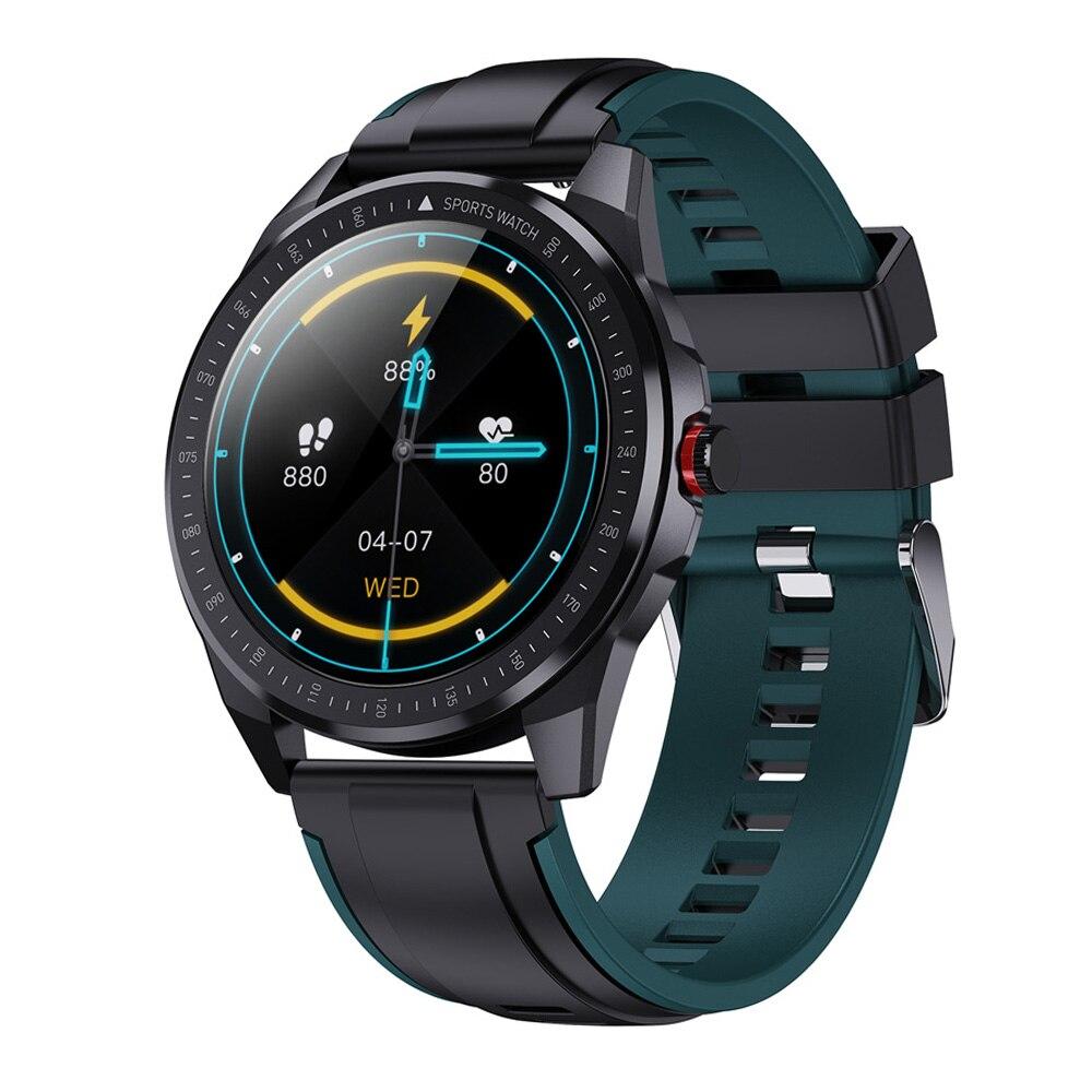 Tempo de Espera Corpo de Metal Ip68 à Prova Profunda Água Dias Super Magro Relógio Inteligente Freqüência Cardíaca Pressão Arterial Música Smartver Masculino 30m D60 60
