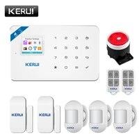 KERUI W18 systeme dalarme de Stock russe WIFI GSM securite a domicile PIR detection de mouvement sans fil App telecommande panneau dalarme