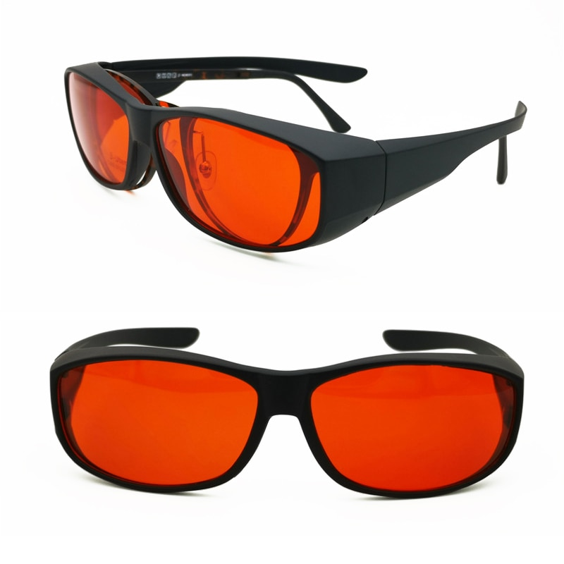 Anti-blue light eyewear fit over gaming glasses UV400 protection full rim wear on red color protecti