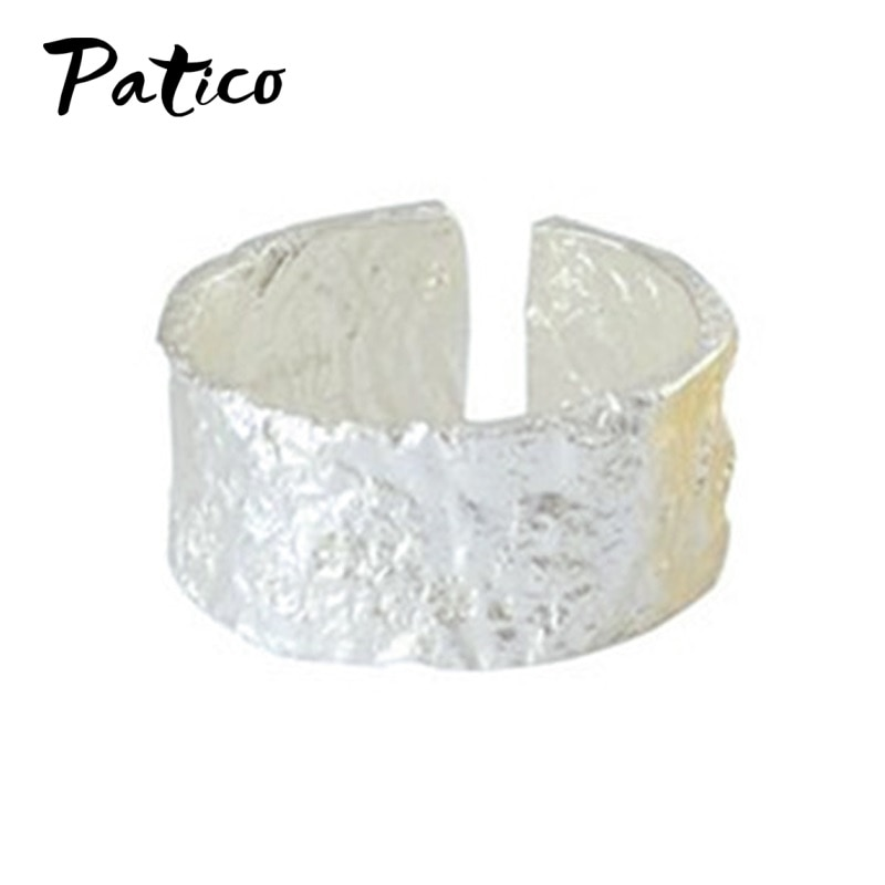 Корейский тренд, огромные серебряные кольца для женщин, обручальные ювелирные изделия, огромное открытое кольцо на палец