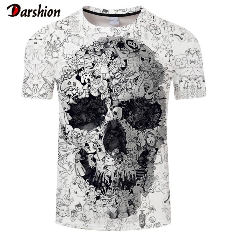 Мужская футболка с коротким рукавом и круглым вырезом, Повседневная футболка с 3D-принтом волка