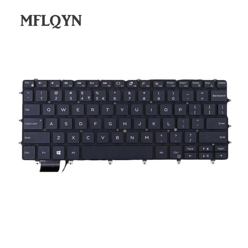 Plastic Laptop Keyboard Enter-key w/Backlit for Dell XPS 13 2018 9370 13-9370 13-9370-D1705S 06Y7DJ backlit US keyboard