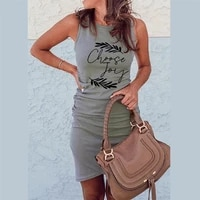 choose joy ribbed mini dress women off shoulder sexy party o neck drawstring knit club tank bodycon short womens summer dresse