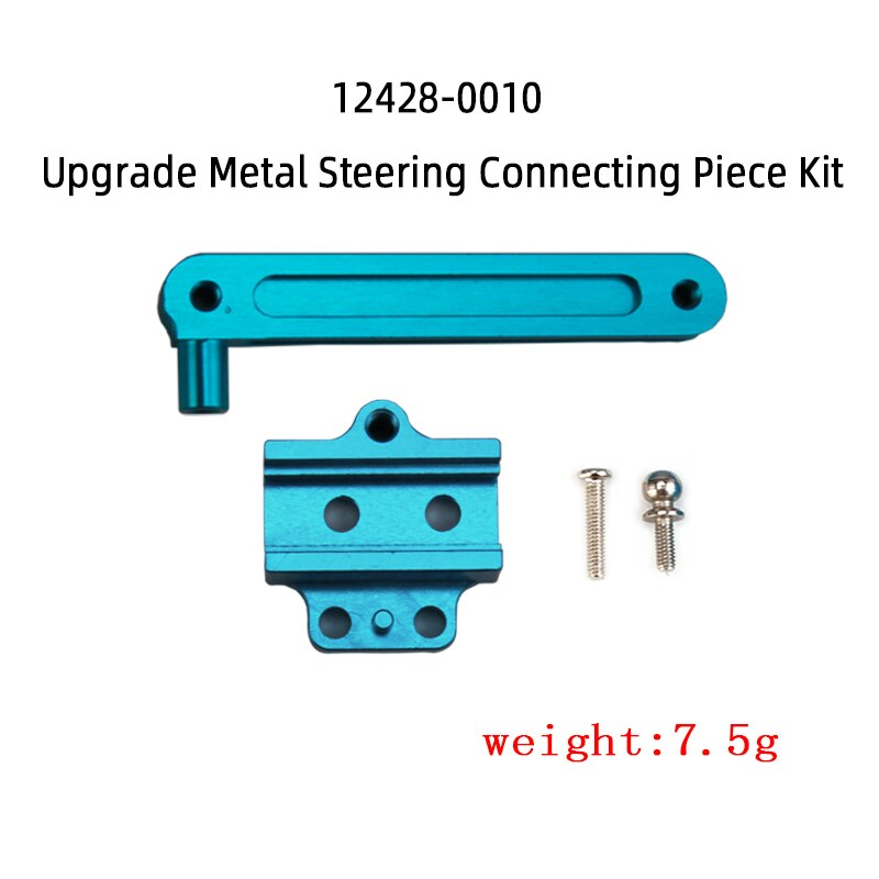 WLtoys 12428 12423 Feiyue FY-03 Steering component piece kit RC Car Metal Part Upgrade 12428-0010 Steering component Accessories enlarge