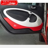 carbon fiber door protection sticker texture decoration for new smart 453 fortwo forfour anti scratch car styling accessories