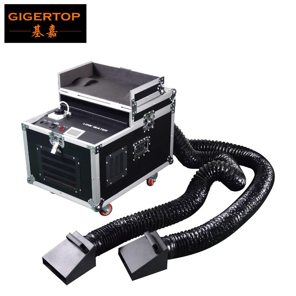 TIPTOP 3000 واط 4000 واط 5000 واط منخفضة الكذب آلة الضباب المياه DMX عن بعد آلة لصنع الدخان AC110/220 فولت Flightcase حزمة المرحلة منخفضة جيت الجاف الجليد