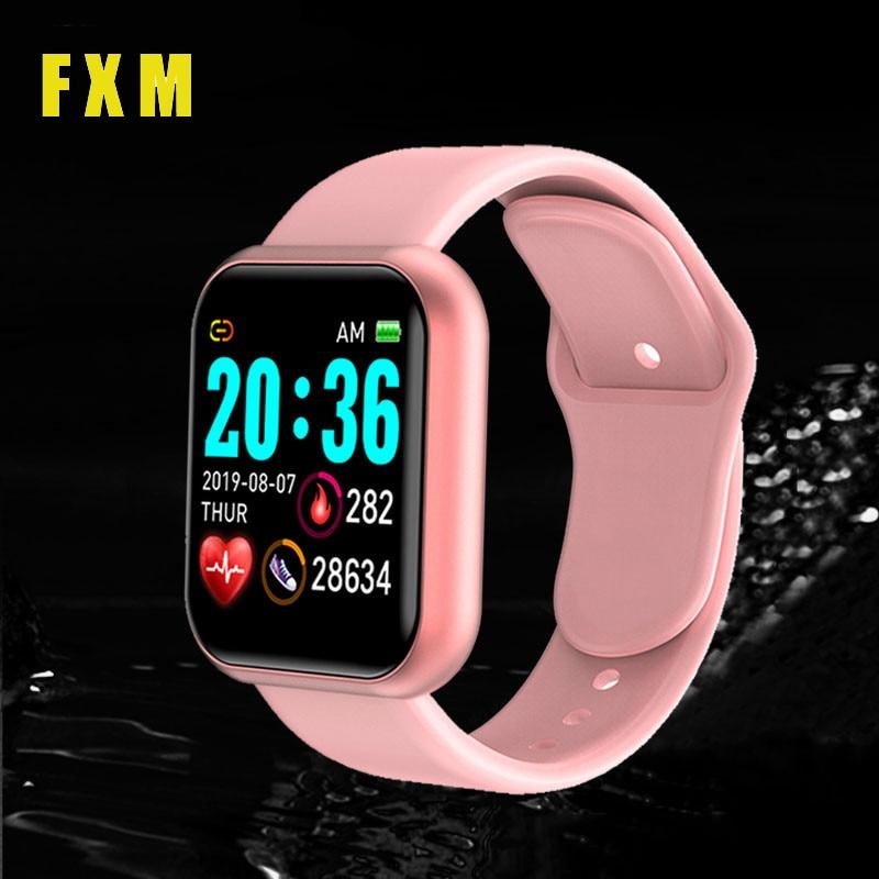 D20 Smart Watch Women Men Sport Digital Smart Band Heart Rate Monitor Blood Pressure  Fitness Tracker Bracelet for Android IOS