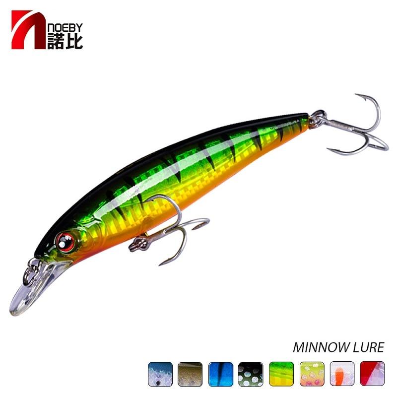 Noeby Minnow señuelo de Pesca duro 100mm13.6g 120mm22.0g mar Pesca ganchos japoneses para Lucio perca Pesca accesorios