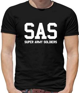 SAS Super Army Soldiers Mens T-Shirt - British Forces - Special Air Services