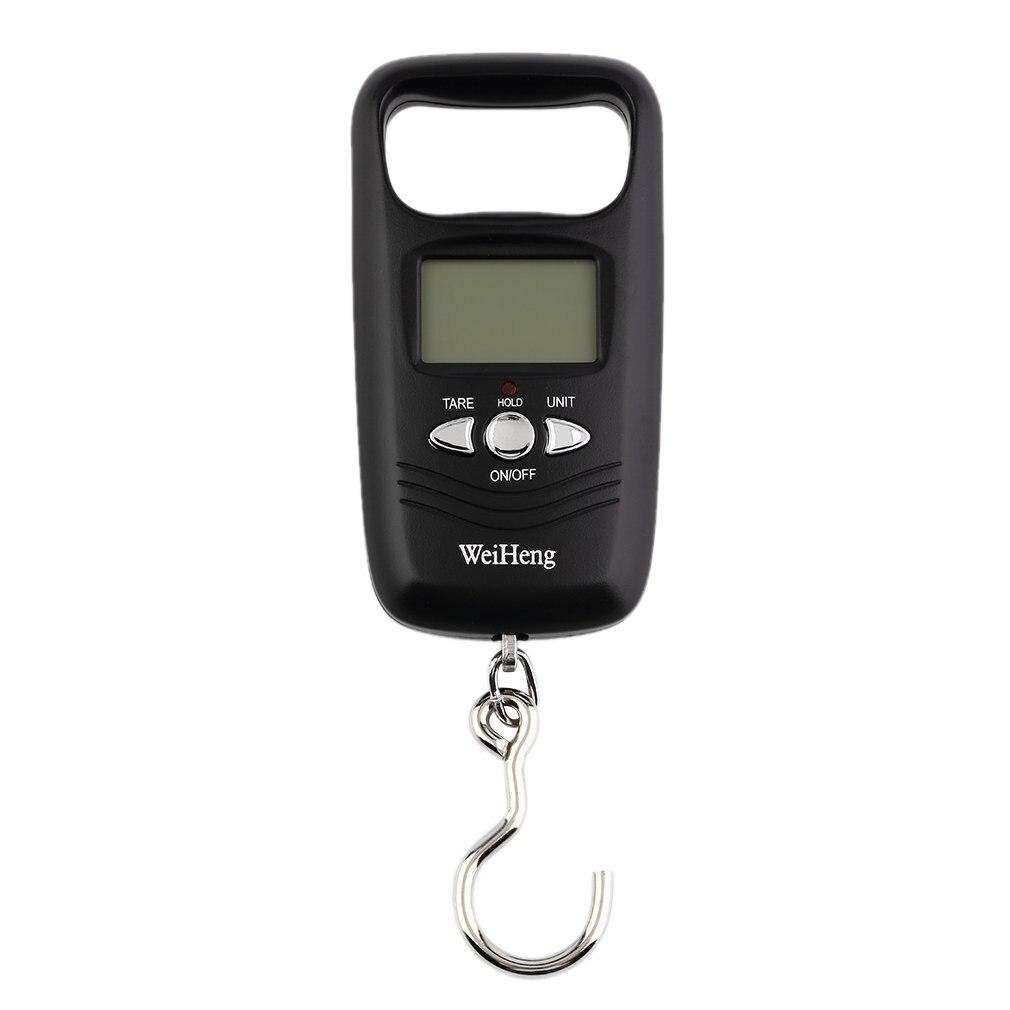 Báscula Mini para colgar, portátil, de bolsillo, 50kg, LCD Digital, para colgar equipaje, peso, anzuelo de pesca, báscula electrónica de peso