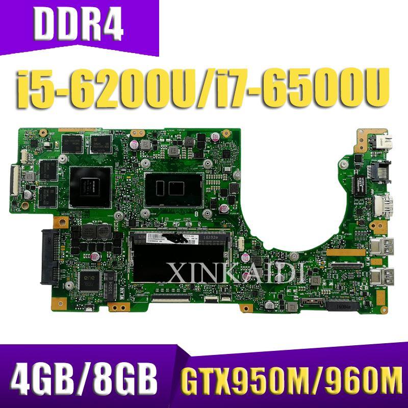 XinKaidi ل ASUS K501U K501UX K501UXM K501UQ K501UW K501UWK Loptop اللوحة ميان مجلس ث/4 جيجابايت/8 جيجابايت i5/i7 وحدة المعالجة المركزية DDR4 فتحة الذاكرة