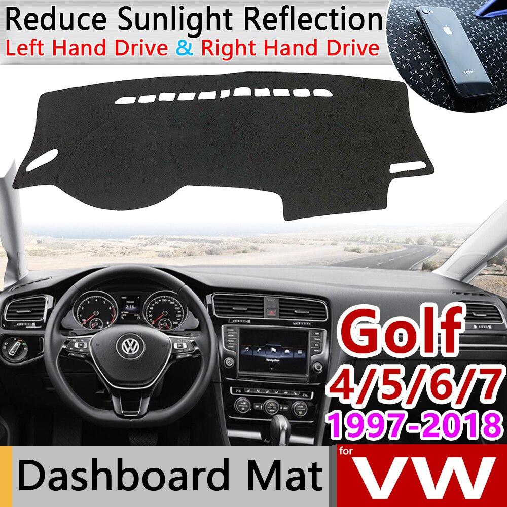 Para Volkswagen VW Golf 4 5 5 5 6 6 7 Sportsvan 1997 ~ 2018 Anti-Slip Mat panel de sombrilla accesorios MK4 MK5 MK6 MK7 1J 1K 5K 5G