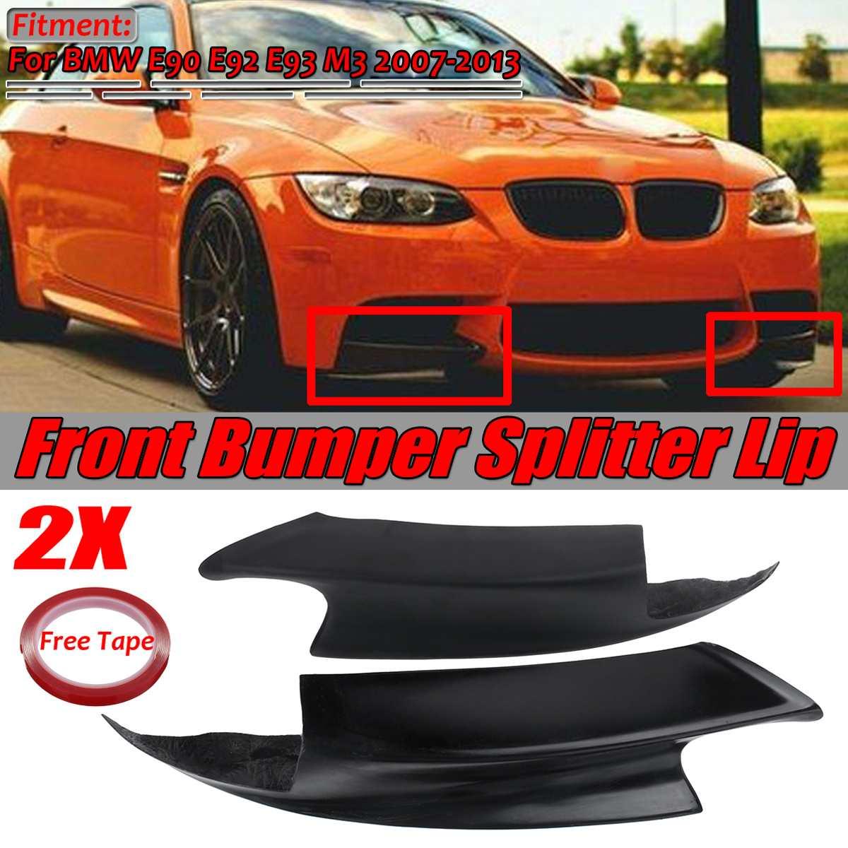 1 пара E90 E92 бампер для губ E92 E93 передний бампер для автомобиля разветвитель спойлер Диффузор Крышка для BMW E90 E92 E93 M3 2007-2013