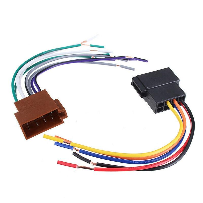 Комплект пластиковых автомобильных стерео гнездовых разъемов радио ISO жгут проводов адаптер разъем универсальные автомобильные внутренни...