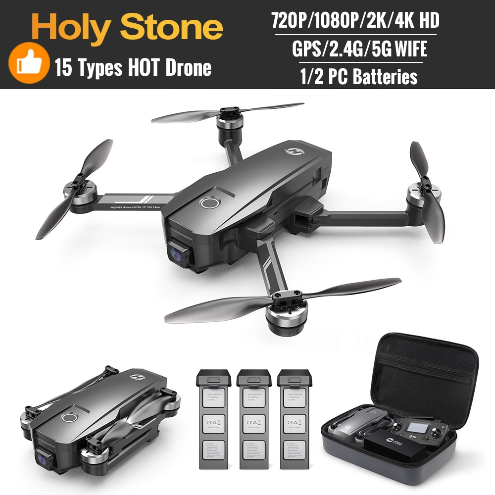 15 Types Hot Holy Stone Drone 720P 1080P 2k 4k Upgrated RC Anti-shake GPS Brushless Motors 5G GPS Drone 4K Wifi FPV  Quadcopter