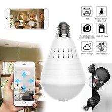 Caméra panoramique sans fil 960P   Sécurité domestique, CCTV WiFi, lampe ampoule, caméra IP, sécurité domestique 360 degrés