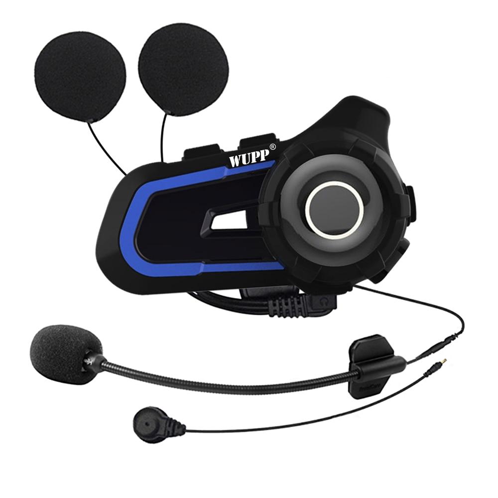 1000m Bluetooth-Compatible Intercom Motorcycle Helmet Headsets For Rider Wireless Walkie Talkie Moto Stereo Interphone MP3 Radio