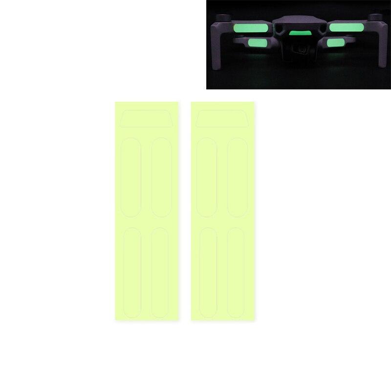 2 uds. Pegatinas luminosas para Dron mavic piel fluorescente para DJI Mavic Mini mavic 2 pro 1 accesorios de drones de aire