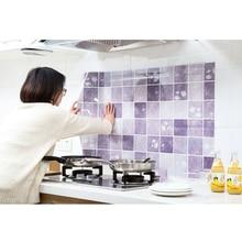 2020 auto-adhésif résistant à lhuile Stickers muraux cuisine haute température résistance carrelage autocollants étanche décoration papier peint